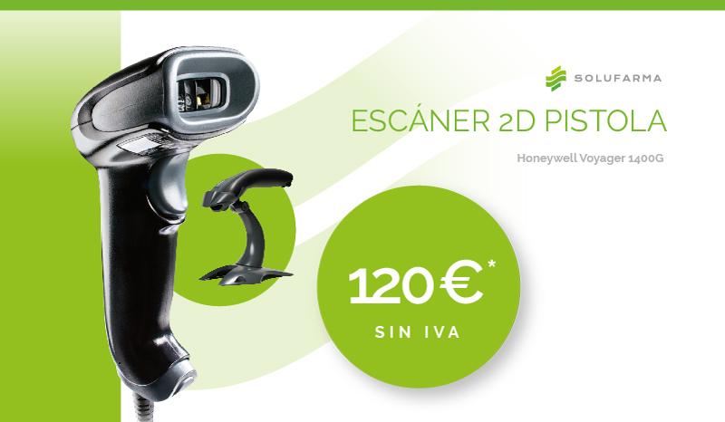 Escaner 2D Pistola Honeywell 1400G para la oficina de farmacia 120€