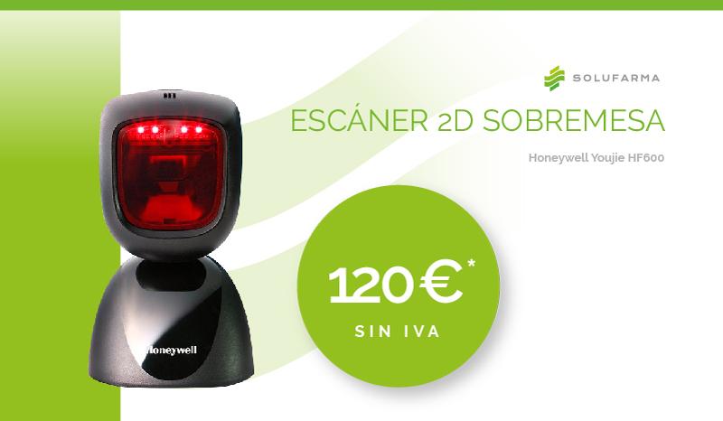 Escaner 2D Sobremesa Honeywell Youjie HF600 para la oficina de farmacia 120€
